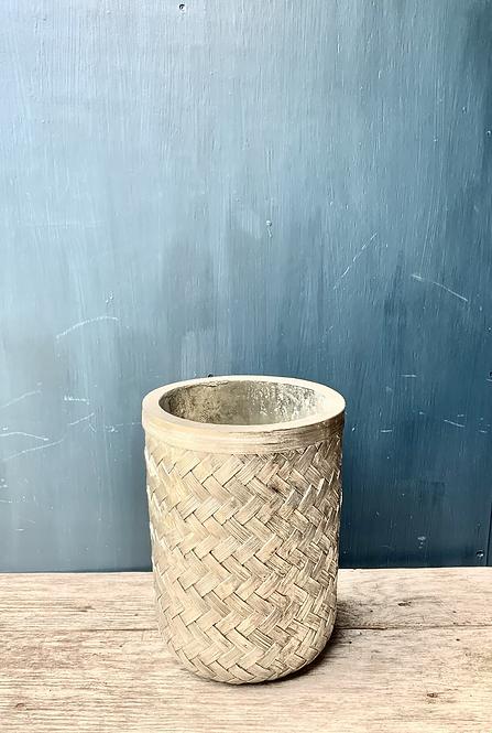 Silver 'Weave Effect' Vase