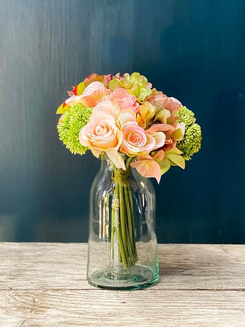 Rose, Hydrangea, Sedum Bunch