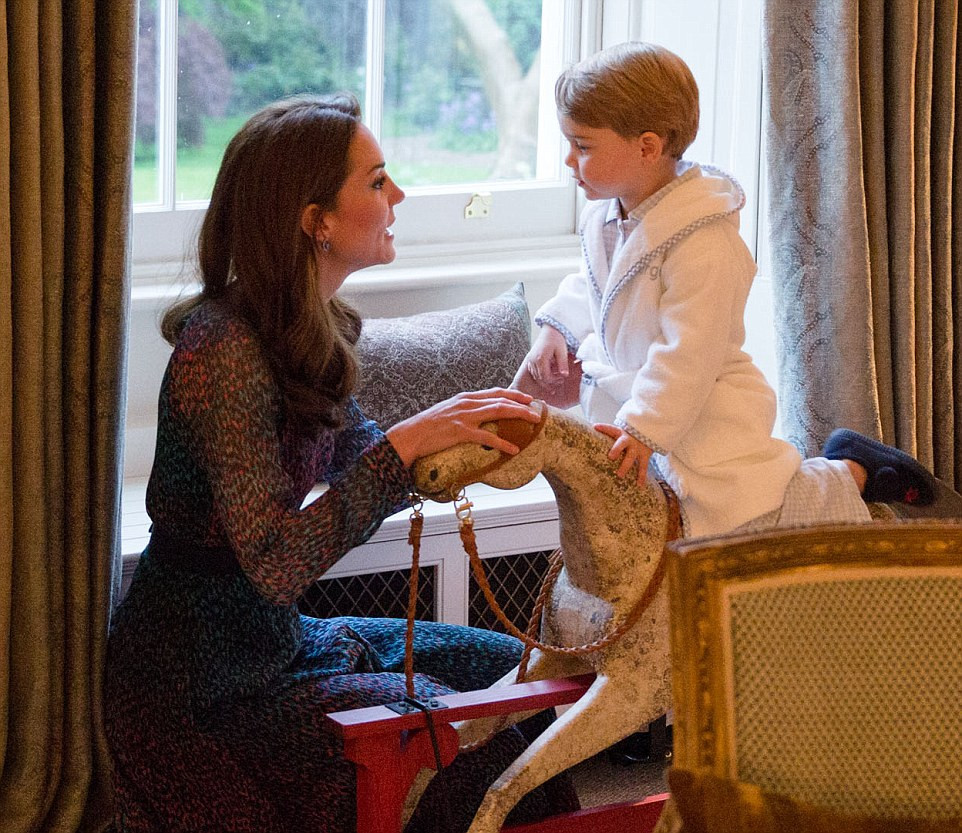 Duchess of Cambridge with Prince George