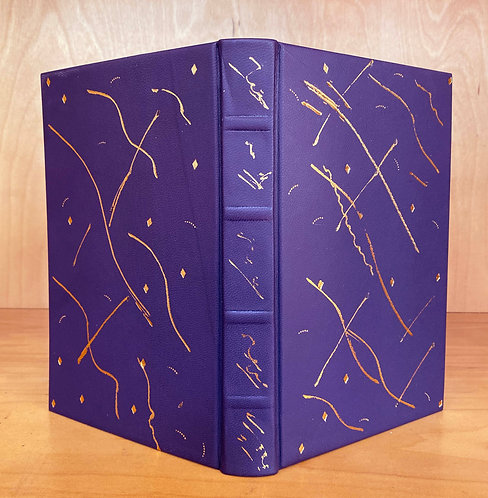 Purple Goatskin | 23kt Gold Tooling | Hand Painted Endpapers