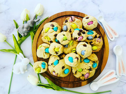 Easter Egg M&M Cookies