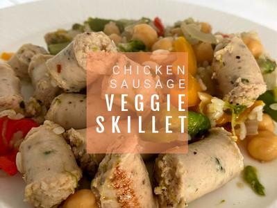 Easy Chicken Sausage Veggie Skillet WW Friendly (6 Blue Points)
