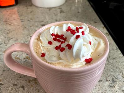 Valentine's Day White Chocolate Latte