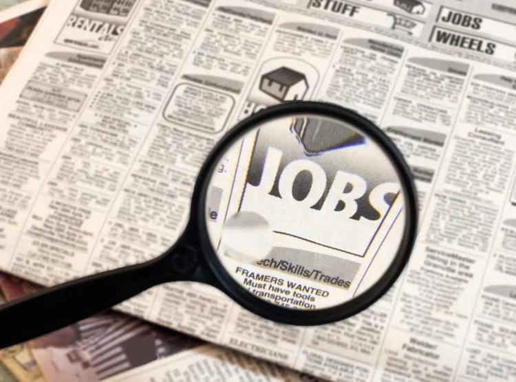 offerte di lavoro su un giornale