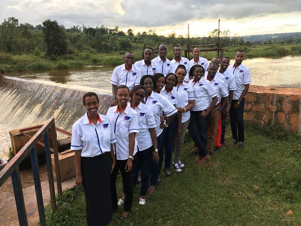 L'équipe Sacodé sur les rives de la Ndurumu