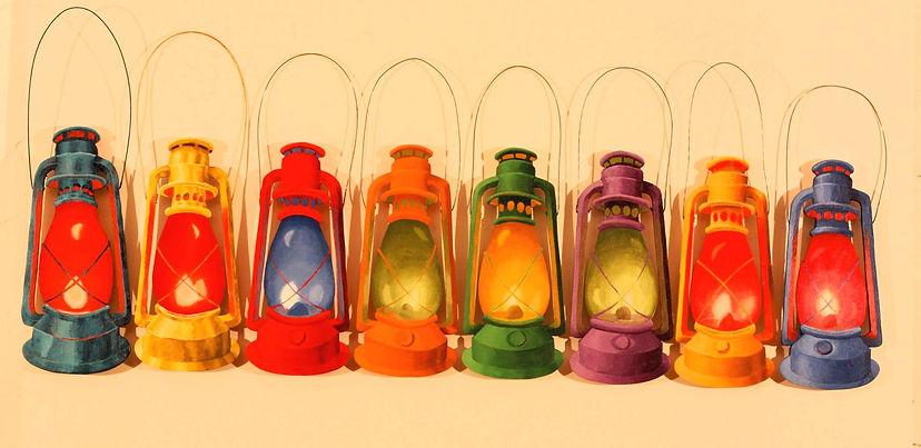 Eight hurricane lamps.jpg