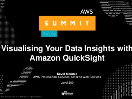 Visualising Your Data Insights with Amazon QuickSight