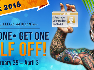 Ripley's Believe It or Not!, offering a Spring Break 2016 college student discount!