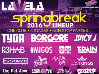 Club La Vela Spring Break 2016 Performance Lineup!