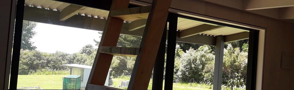 Mangawhai Cabin - Interior Ladder