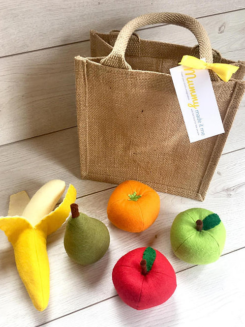 Fruit Collection with Mini Jute Shopping Bag