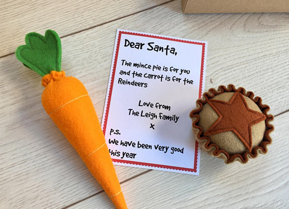 Pretend Play Mince Pie & Carrot Gift Set for Santa