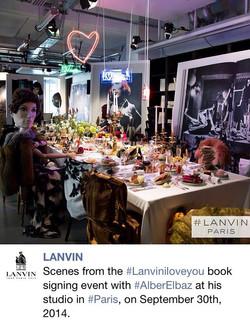 Lanvin Book Launch