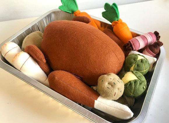 Christmas Turkey Dinner Set