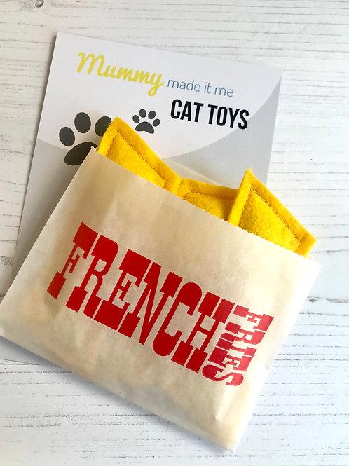 Novelty Felt Food Cat Nip French Fries Toy