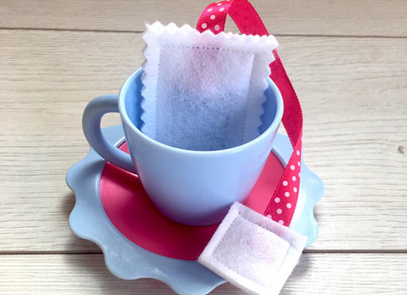 Polka Dot Ribbon Tea Bags