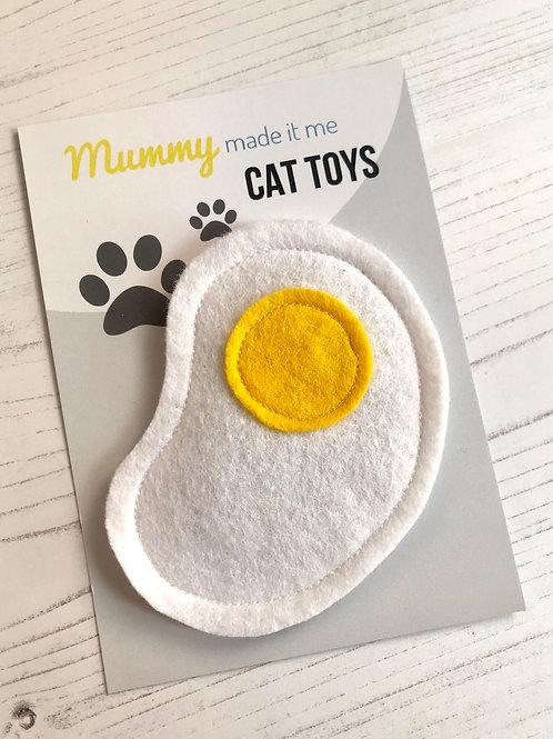 Novelty Felt Food Cat Nip Fried Egg Cat Toy