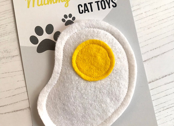 Novelty Felt Food Cat Nip Fried Egg Cat Toy