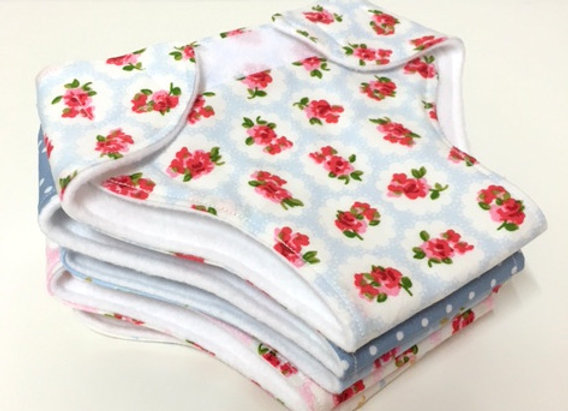 Set of Three Doll Nappies