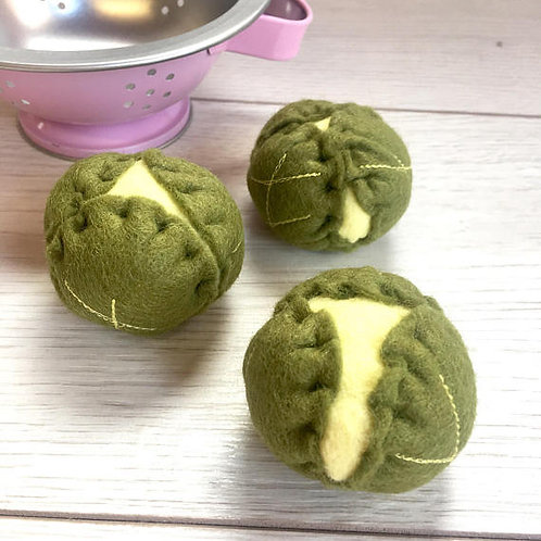 Set of Three Brussel Sprouts