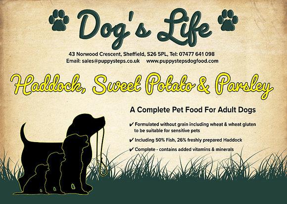 Hypoallergenic fish based adult dog food