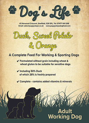 A complete feed for working and sporting dogs