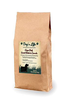Working Dog Grain Free Angus Beef, Sweet Potato & Carrots