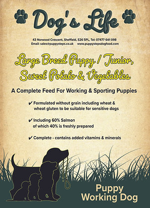 Large breed working dog food