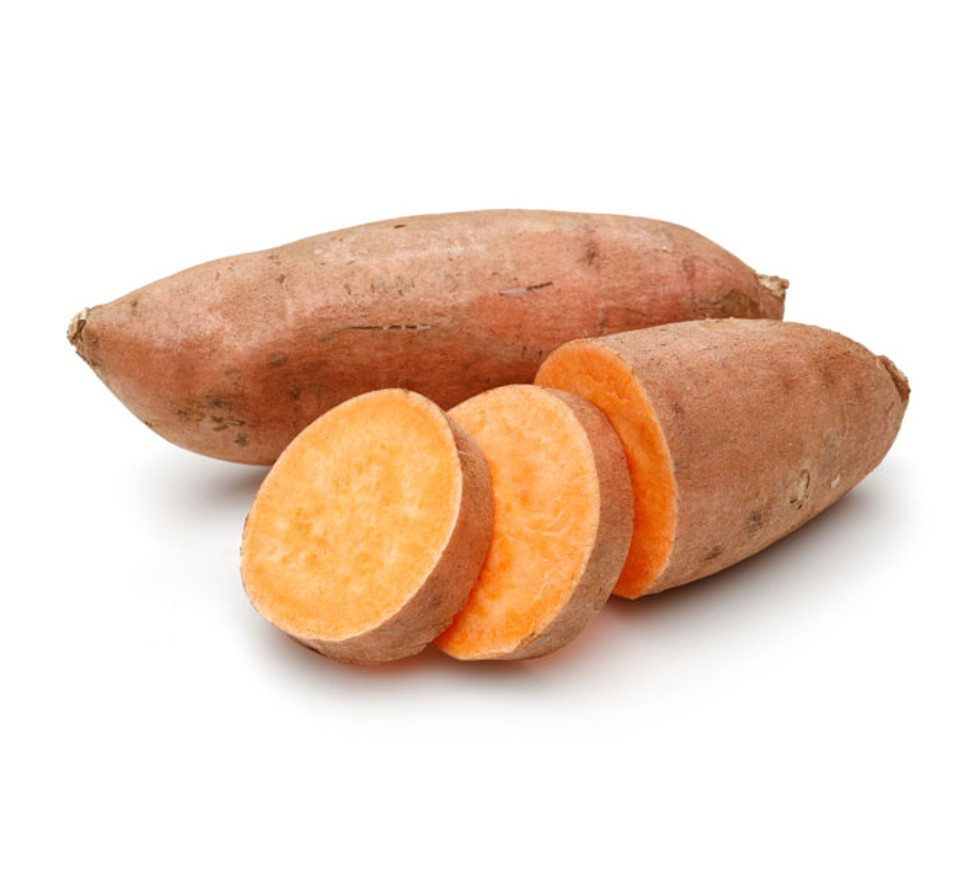 Sweet potato in dog food. It has a low glycemic index and is one of the best sources of vitamin A.