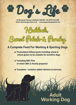 Sporting dog food for working dogs