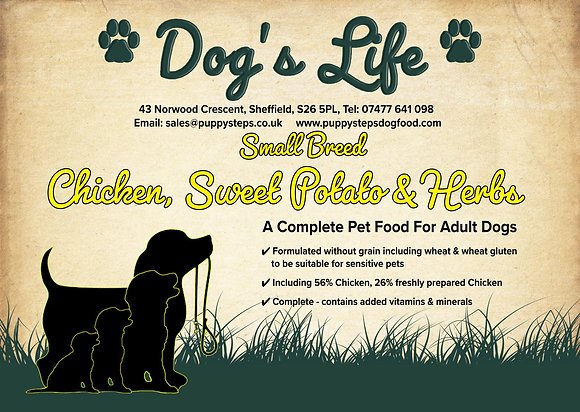Poultry based dog food for small dogs