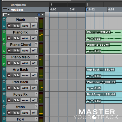 ProTools - example of leaving one bar silence before the track starts