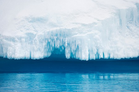 Antarctic Sound Water and Ice Detail