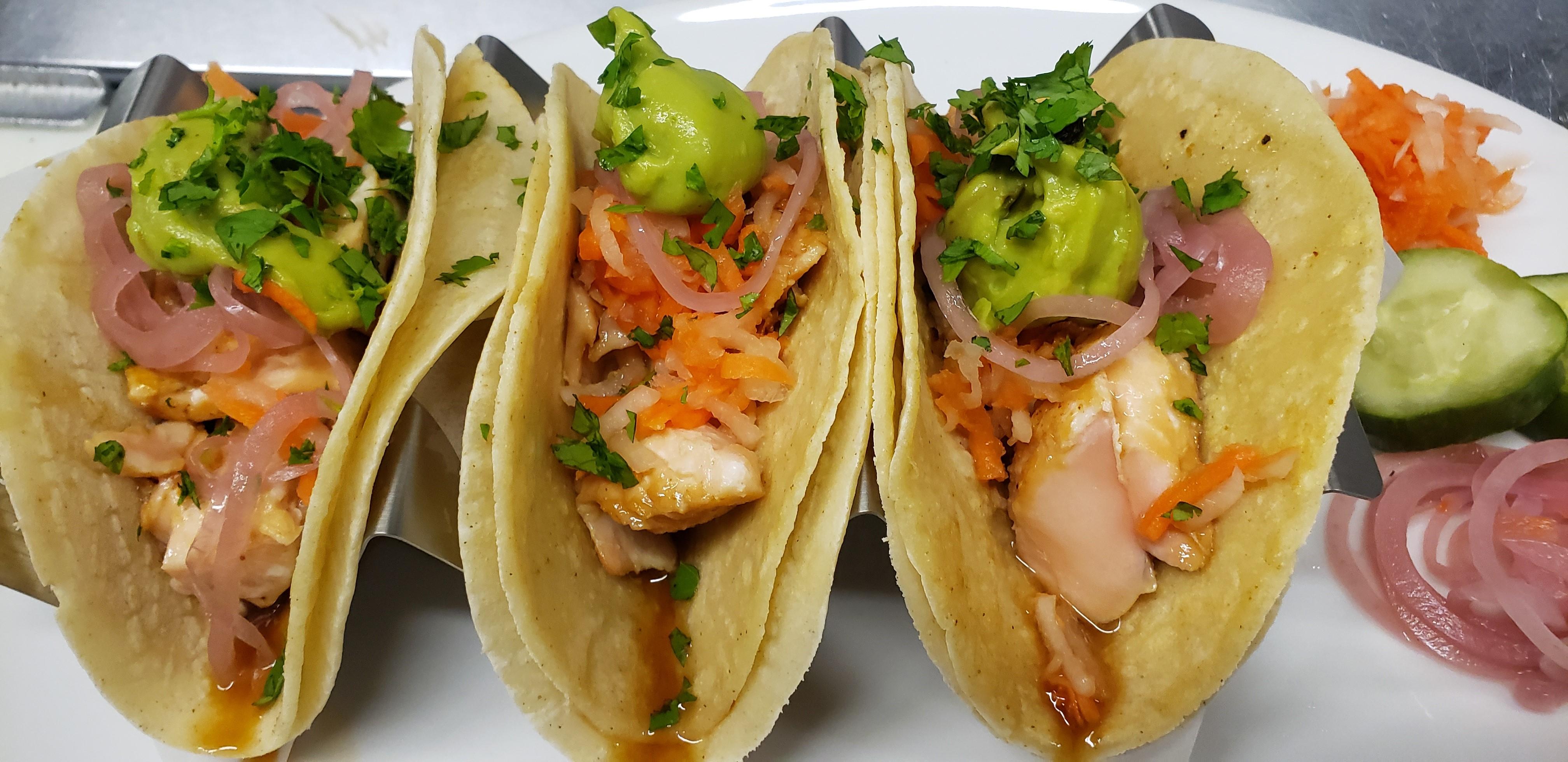 Eatery, Roast Salmon Tacos