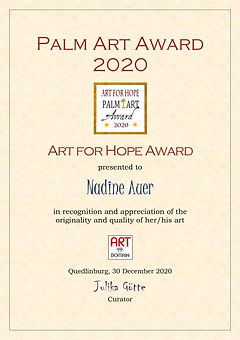 AfHA-Auer art for hope award palm art aw
