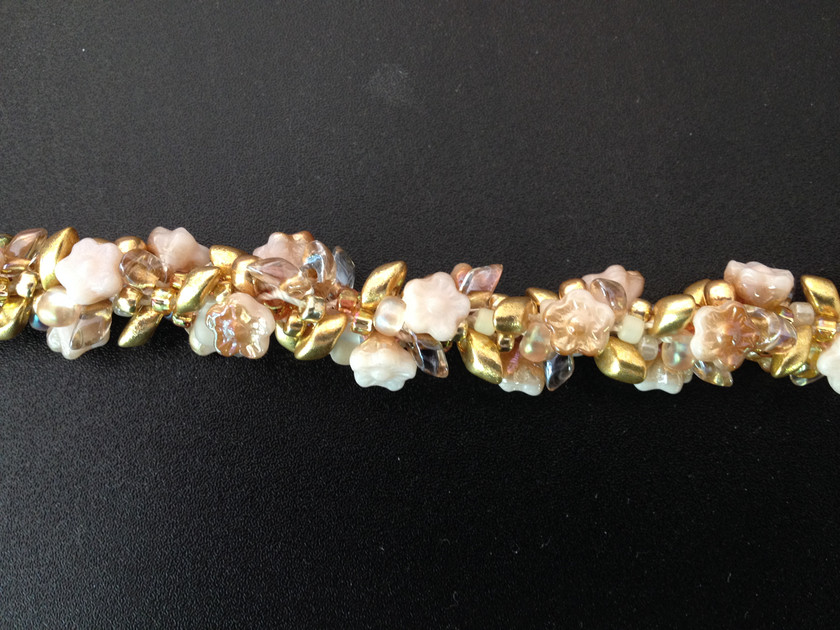 Champagne and Roses Seven Wives bracelet