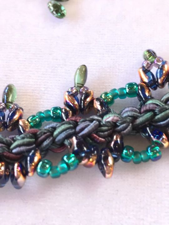 Peridot azure bead inspiration