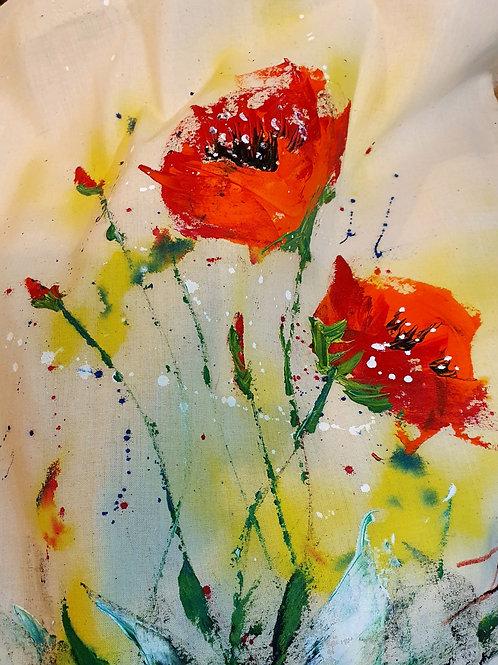 Orange flowers - tote bag
