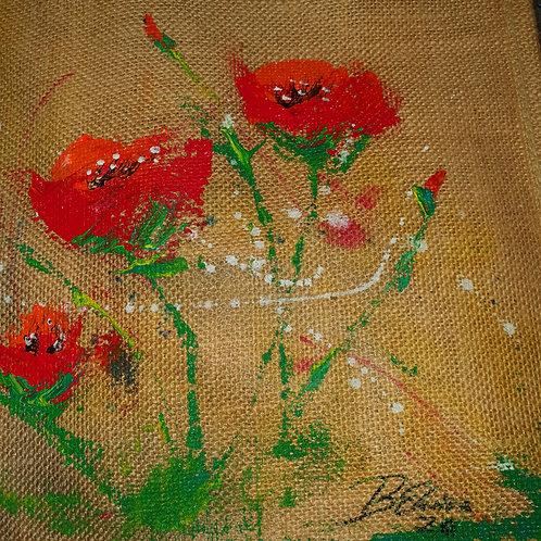 Happy Flowers - shopping bag
