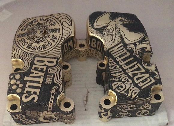 Shovelhead Brass Engraved Rocker Boxes