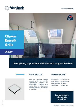 Clip-on Retrofit Grille Brochure Download
