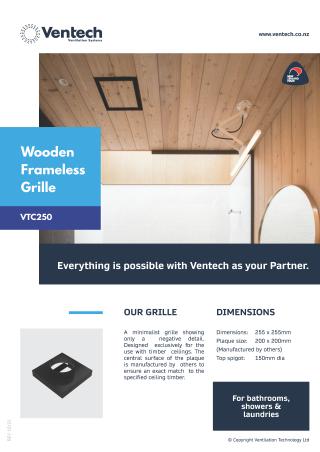 Wooden Frameless Grille Brochure Download