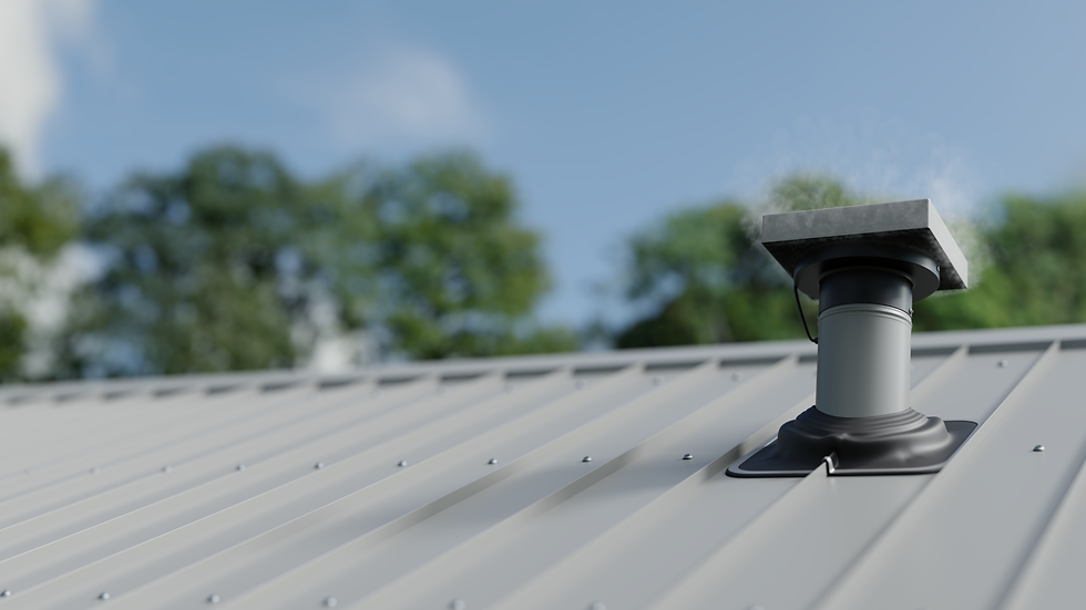 VTM190 Tube Mounted Roof Extractor Fan - Gull Grey | Ventech