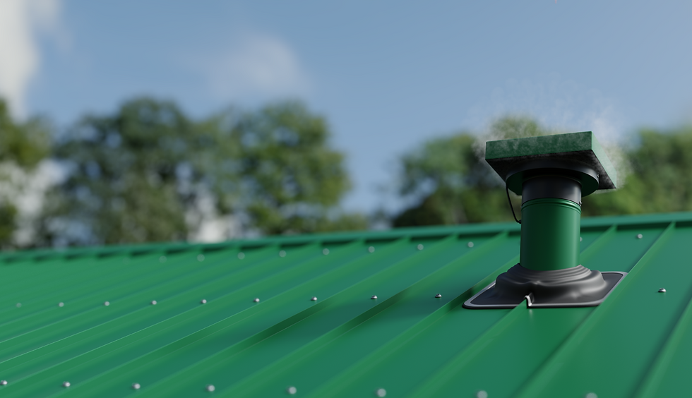 VTM190 Tube Mounted Roof Extractor Fan - Permanent Green | Ventech