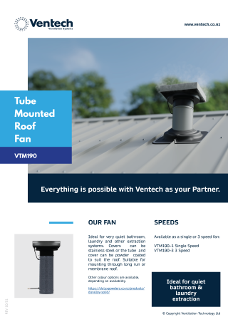 VTM190-Tube Mounted Roof Fan Brochure Download   Ventech