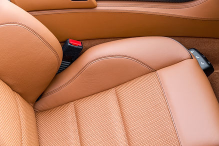 Restored leather seats by Aesthetic Detail Studio