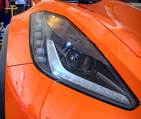 Auto Headlight Restoration Performed by Aesthetic Detail Studio in Chicago, IL
