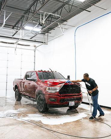 RAM truck hand wash at Aesthetic Detail Studio