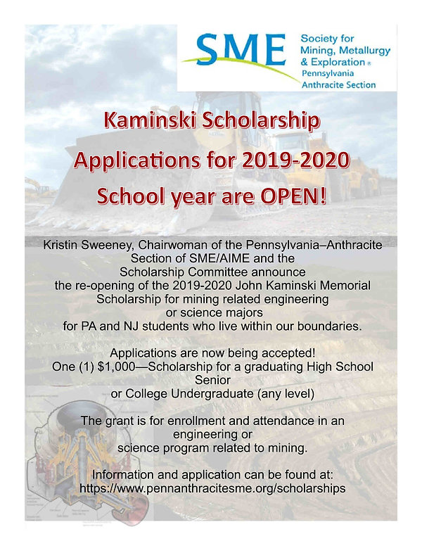 2019-20 SME Scholarship Re-open Announce