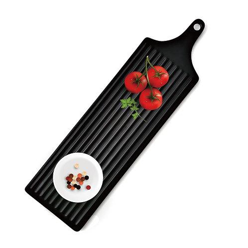 瑞典【GREEGREEN】鎢砂釉長條形陶瓷餐盤 (黑色)